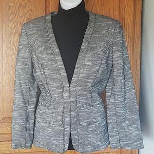 Anne Klein fitted jacket. Black/white 4